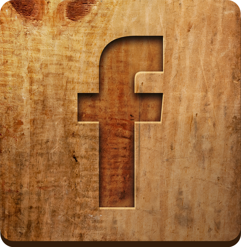 Facebook icon with wood background